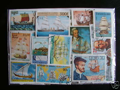 Timbres Bateaux / Voiliers : 50 Timbres Tous Differents / Sailing Boats Stamps