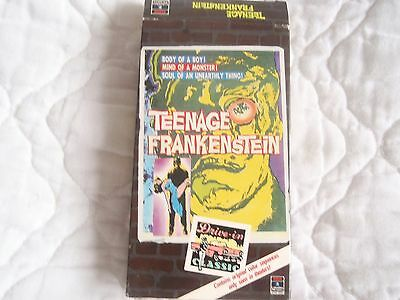 I WAS A TEENAGE FRANKENSTEIN VHS WHIT BISSELL 50'S HORROR CLASSIC GARY CONWAY