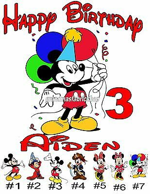 Personalized Mickey or Minnie Mouse Birthday T Shirt CHANGE TEXT TO WHATEVER
