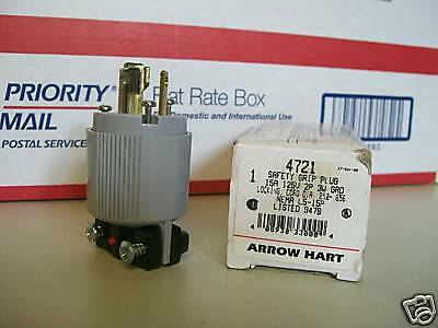 Arrow Hart 4721 Safety Grip Plug 15A 125V  2P 3W Grd