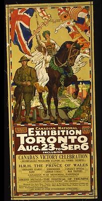 WWI Canadian National Exhibition Toronto Military 1919
