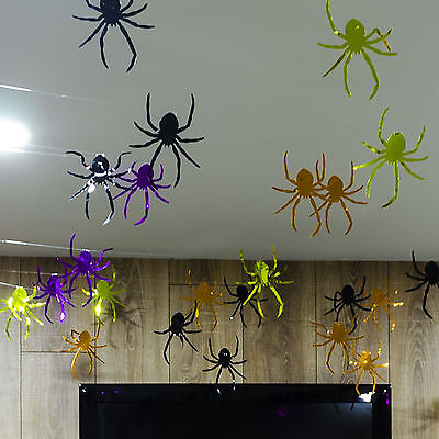 100ft Halloween Spiders String Party Decoration Ceiling Walls Doorway