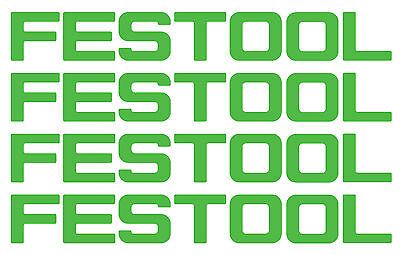 Window Car Vinyl Decals 4 Stickers FESTOOL TOOLS 12""