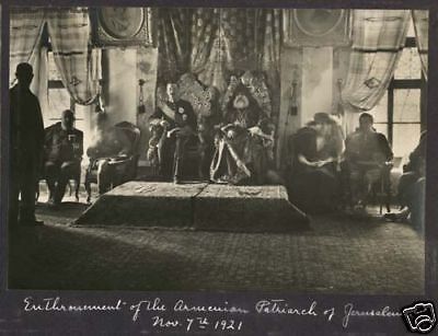 Enthronement  Armenian Patriarch of Jerusalem Nov 1921