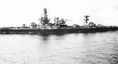 WWll USS Texas BB 35 April 8, 1943 Navy