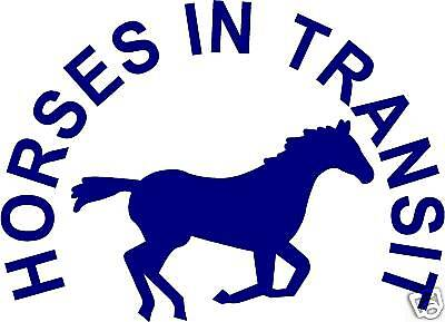 HORSES IN TRANSIT STICKERS DECALS horsebox