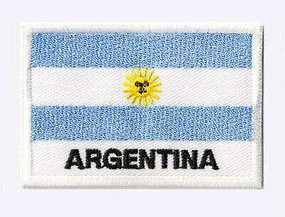 Ecusson patch badge patche drapeau ARGENTINE 70 x 45 mm brodé à coudre
