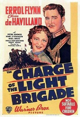 THE CHARGE OF THE LIGHT BRIGADE POSTER Errol Flynn 1