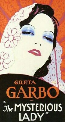 THE MYSTERIOUS LADY MOVIE POSTER Great Garbo VINTAGE