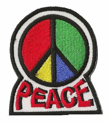 Badge écusson patche Peace & love 70's thermocollant patch brodé