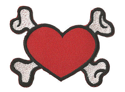 Coeur de pirate écusson transfert patche patch thermocollant brodé