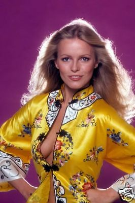 Cheryl Ladd Sexy Busty 8X12 Rare Photo In Open Shirt