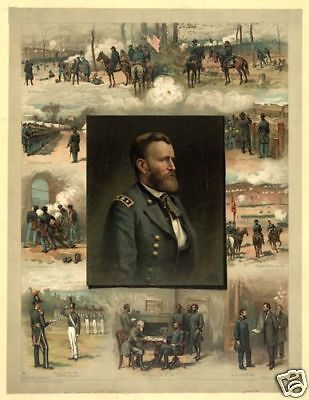 Gen Ulysses Grant West Point to Appomattox 1885 Poster
