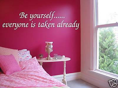 WALL QUOTE vinyl decal sticker BE YOURSELF art