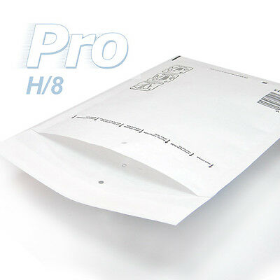100 Enveloppes à bulles blanches gamme PRO taille H/8 format utile 260x360mm