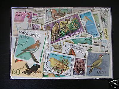 Promotion Timbres Oiseaux : 100 Timbres Tous Differents / Birds Stamps ********
