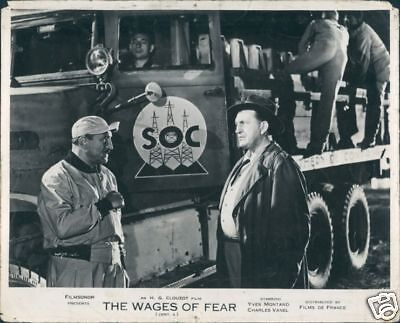 1958 Wages Of Fear Rare Original Lobby Men By Truck