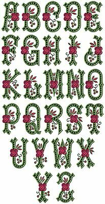 "ABC Designs Country Charm Cutwork Alphabet Embroidery Designs Applique 4""x4""hoop"