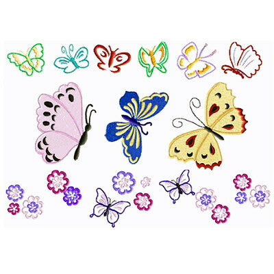 "ABC Designs Butterflies Machine Embroidery Designs Set for 4""x4"" Hoop"