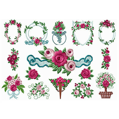 "ABC Designs Sweetfashion Roses machine embroidery designs 4""x4"" Hoop"
