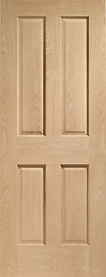 Oak Victorian 4 Panel With Non Raised Mouldings