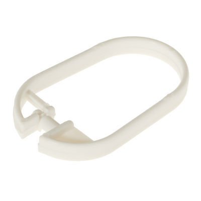 12 Replacement Shower Curtain Rings Pole Rail White