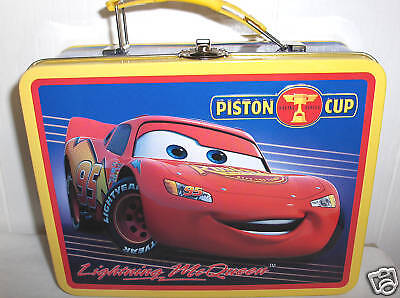 Lightning McQueen-Piston Cup`Metal Lunchbox`New`Free To US