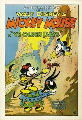 MICKEY MOUSE YE OLDEN DAYS MOVIE POSTER Rare Vintage
