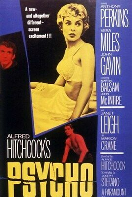 PSYCHO MOVIE POSTER Anthony Perkins -Alfred Hitchcock 1