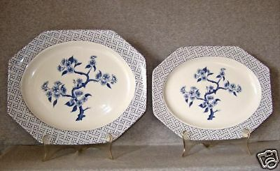 J & G Meakin Dynasty Serving Platters (2) MINT
