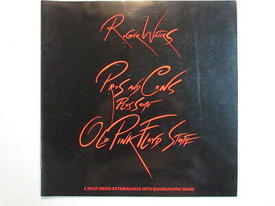 Roger Waters Pros And Cons Tour Book Program Pink Floyd