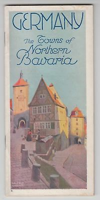"""1928 BROCHURE """"GERMANY, THE TOWNS of NORTHERN BAVARIA"""""""