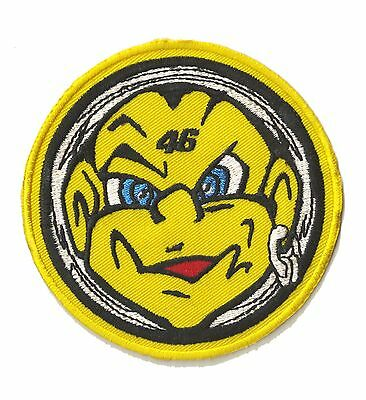 Patch thermocollant écusson patche Rebel Boy 46 rond thermocollable brodé