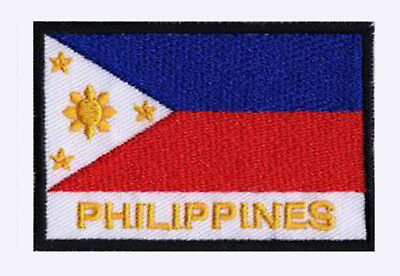 Patch écusson patche drapeau PHILIPPINES 70 x 45 mm Pays Monde à coudre