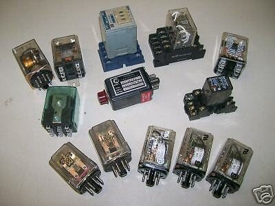 !!! Lot Of 13  Plug-In   Relays  Of Different Types !!!