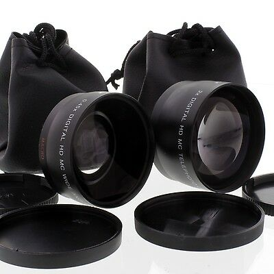 WIDE ANGLE TELE LENS Kit for Canon EF 50mm f/1.8 II NEW