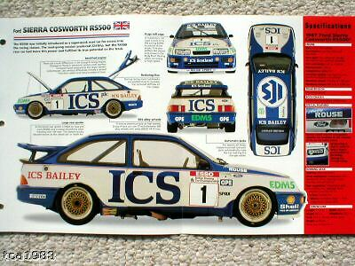 FORD SIERRA COSWORTH RS/RS500 SPEC SHEET/Brochure:1987,