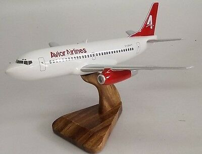 B-737 Avior Airlines Boeing B737 Airplane Wood Model Small New