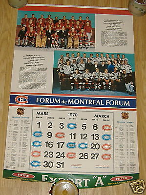 export A calendar pages   montreal canadians 69-70