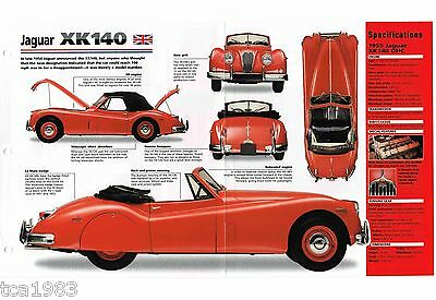 JAGUAR XK140/ XK-140  SPEC SHEET/Brochure/Catalog:1955,