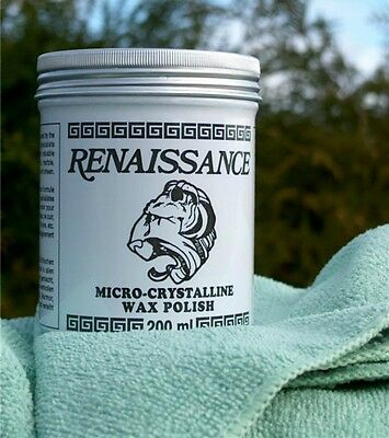 RENAISSANCE WAX 200mls 7ozs WITH FREE MICRO FIBRE CLOTH WOOD*BRONZE*METAL*ETC