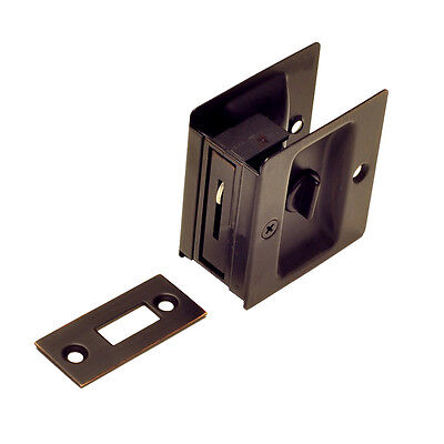 OIL RUBBED BRONZE Privacy pocket door lock - Everything Doors