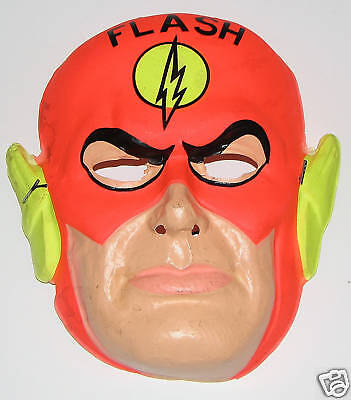 FLASH Halloween Costume & MASK RARE 1960's Ben Cooper