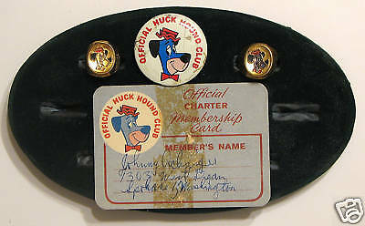 HUCKLEBERRY HOUND MEMBERSHIP KIT Hanna-Barbera RARE 50s