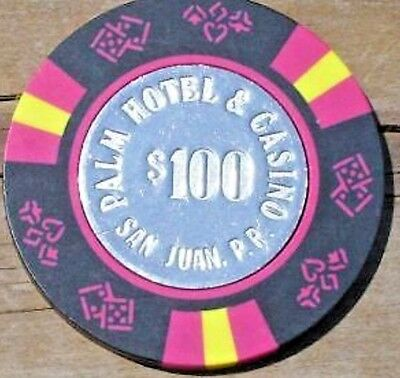 $100 Vintage Chip The Palm Hotel Casino Puerto Rico