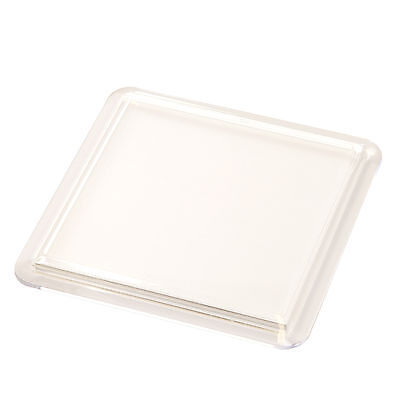 10 QUALITY BLANK CLEAR SQUARE COASTERS 80mm INSERT 80