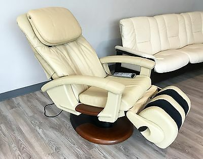 HT135 LEATHER Electric Power Recline Human Touch Massage Chair Recliner HT-135