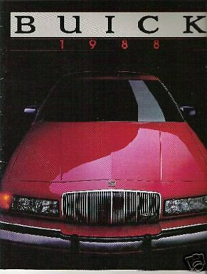 Great Condition 1988 BUICK FULL LINE Brochure 88