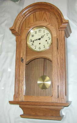 STONEYBROOK MADE in USA...OAK Pendulum Chime WALL CLOCK