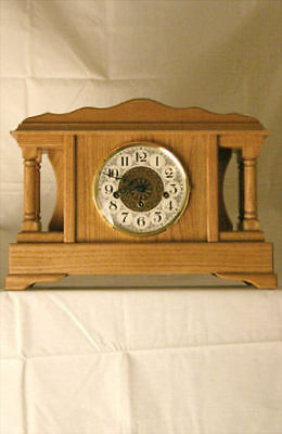 STONEYBROOK Solid Oak Westminster Chime MANTEL CLOCK